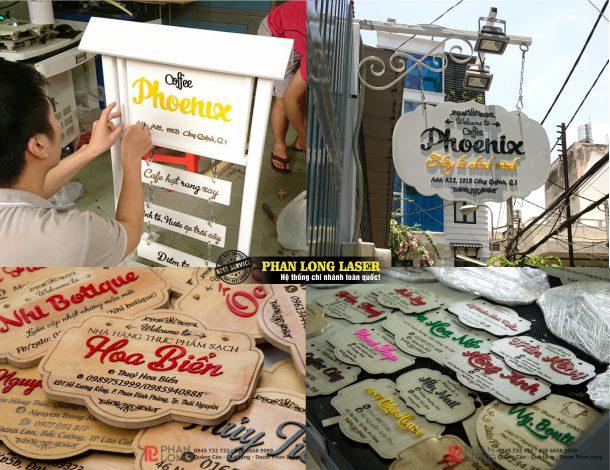 Làm biển bảng gỗ treo tường cho khách hàng tại Tphcm Sài Gòn, Hà Nội, Đà Nẵng và Cần Thơ
