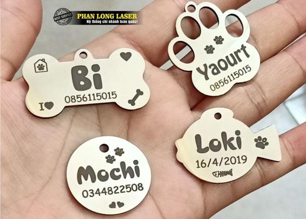 Pettag thú cưng, thẻ tên thú cưng, bảng tên thú cưng cho Chó, Mèo, Cún Cưng, Thỏ, Chuột Hamster