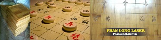 Khắc hình, khắc tên, khắc chữ nho trên bàn cờ tường cờ vua