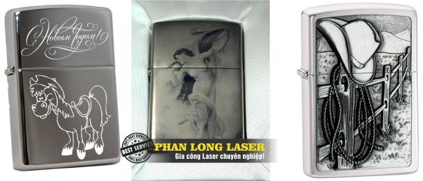 Điêu Khắc Zippo bằng laser theo yêu cầu giá rẻ lấy liền