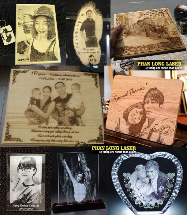 Xưởng làm ảnh cưới theo yêu cầu khắc laser trên chất liệu gỗ, mica, pha lê tại Tphcm Sài Gòn, Hà Nội, Đà Nẵng, Cần Thơ