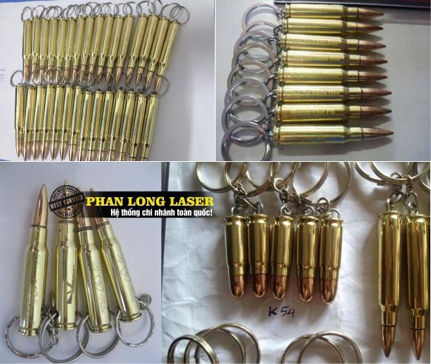 Sản xuất bán sỉ bán buôn móc khóa vỏ đạn tút đạn khắc tên miễn phí giá rẻ