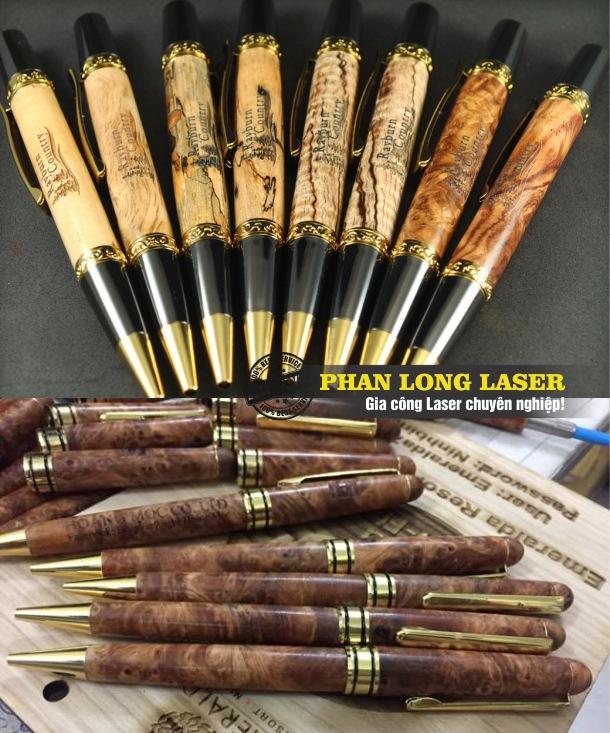 Một số sản phẩm bút gỗ Vip cao cấp được khắc laser theo yêu cầu