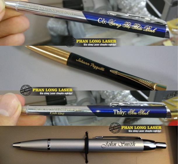 Bút viết máy khắc laser theo yêu cầu giá rẻ tại Sài Gòn Hà Nội Đà Nẵng và Cần Thơ