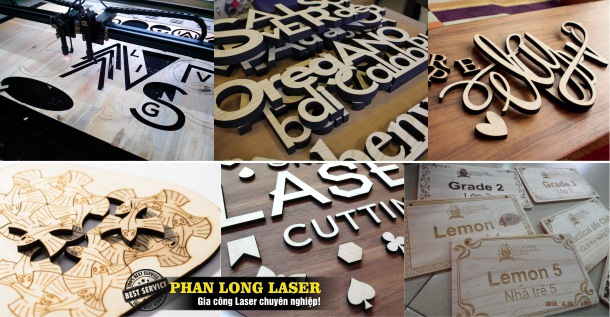 Gia công Cắt chữ gỗ bằng Laser tại Quận Hà Đông, Long Biên