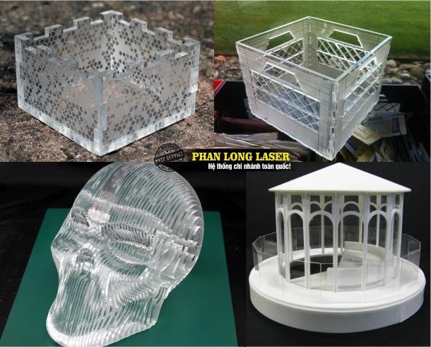 Cơ sở nhận cắt laser tạo hình trên mica, cắt chữ mica, đục lỗ trên mica theo yêu cầu lấy liền giá rẻ