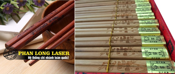 Khắc chữ khắc logo lên đũa gỗ, đũa tre, đũa inox, đũa nhựa, Đũa Sừng giá rẻ