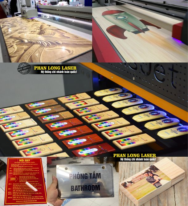 In Uv tại Xưởng Phan Long Laser ứng dụng trong trang trí kiến trúc và quảng cáo