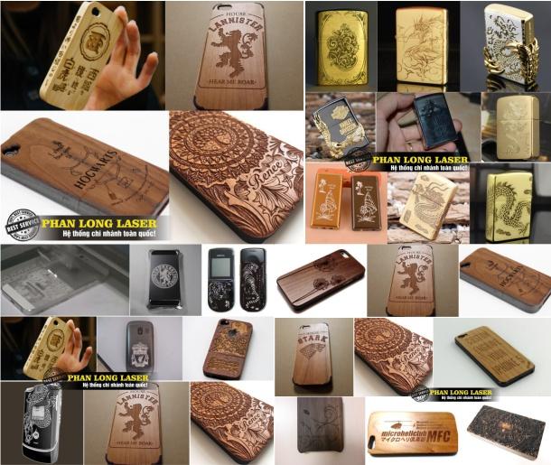 Khắc chữ khắc tên khắc logo lên viền điện thoại, ốp lưng, nắp lưng điện thoại và Zippo tại Hai Bà Trưng