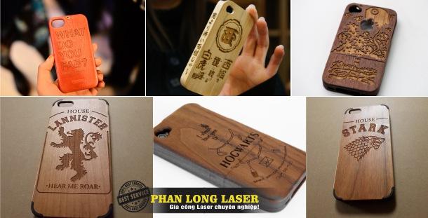 Khắc ốp Lưng điện thoại, vỏ điện thoại, bao da điện thoại tại Hà Nội, Sài Gòn
