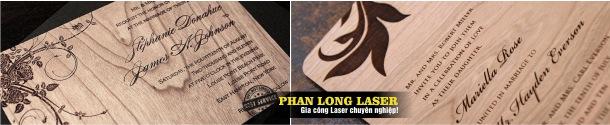 Khắc cắt laser trên thực đơn gỗ, Menu gỗ Mica giá rẻ