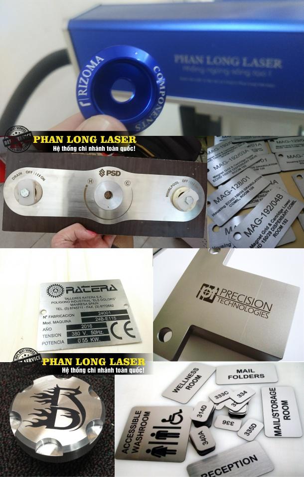 Khắc laser theo yêu cầu lên Qùa Tặng tem nhãn mác bằng kim loại inox