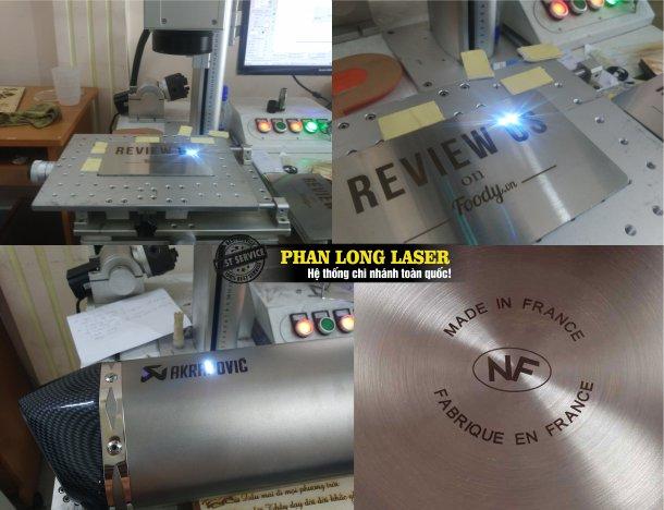 Khắc laze lên kim loại, inox đồng nhôm, sắt thép, hợp kim tại Tphcm Sài Gòn, Hà Nội, Đà Nẵng và Cần Thơ