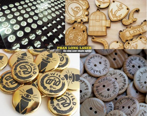 Khắc cúc áo, khắc nút áo bằng gỗ, bằng kim loại theo yêu cầu