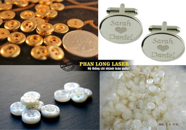 Cơ sở chuyên nhận gia công cúc áo, khắc laser lên cúc áo nút áo bằng kim loại vàng bạc inox giá rẻ