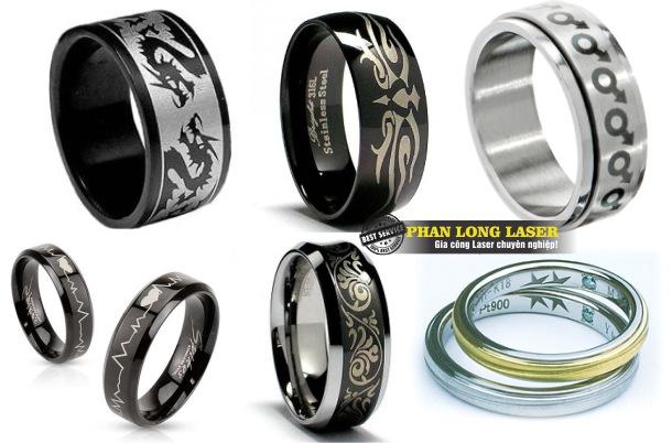 Khắc chữ khắc tên khắc logo lên nhẫn vàng nhẫn bạc nhẫn cưới nhẫn inox nhẫn gỗ