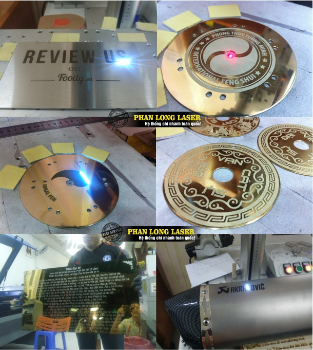 Khắc chữ lên trên Đồng Nhôm Sắt thép bằng máy laser
