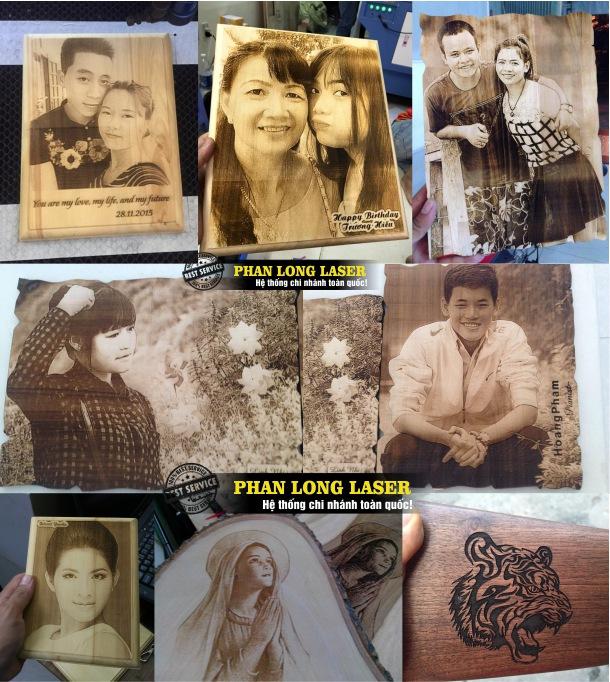 Cơ sở chuyên nhận khắc khung tranh ảnh gỗ, khắc hình ảnh chân dung theo yêu cầu lên gỗ giá rẻ