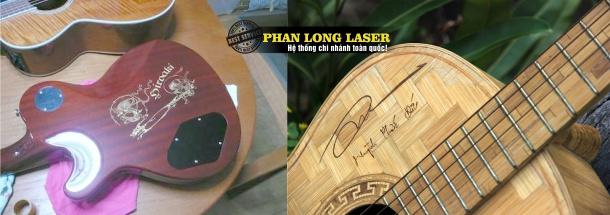 Khắc laser theo yêu cầu lên đàn guitar giá rẻ