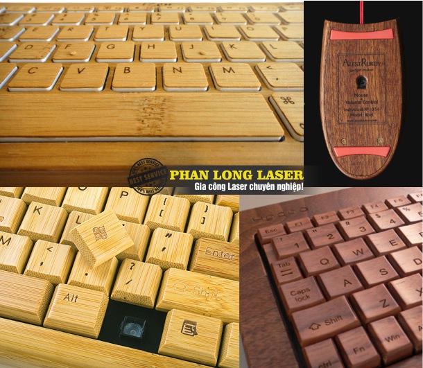 Khắc chữ khắc tên, khắc logo hoa văn, khắc thông số kỹ thuật lên Chuột gỗ máy tính