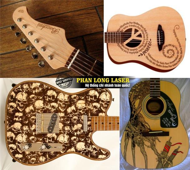 Địa chỉ công ty chuyên nhận khắc logo hoa văn, khắc laser lên đàn guitar giá rẻ tại Tphcm Sài Gòn, Đà Nẵng, Hà Nội và Cần Thơ