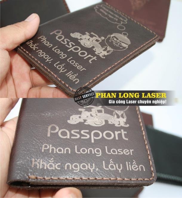 Khắc laser theo yêu cầu lên ví da bóp da bằng máy laser giá rẻ