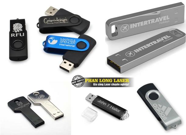 Khắc logo thông số kỹ thuật lên USB theo yêu cầu giá rẻ