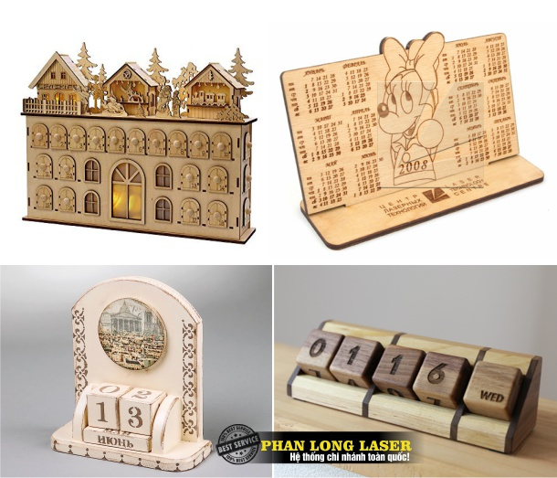 Địa chỉ Làm lịch gỗ giá rẻ, khắc tên, khắc chữ, khắc logo, khắc hoa văn miễn phí