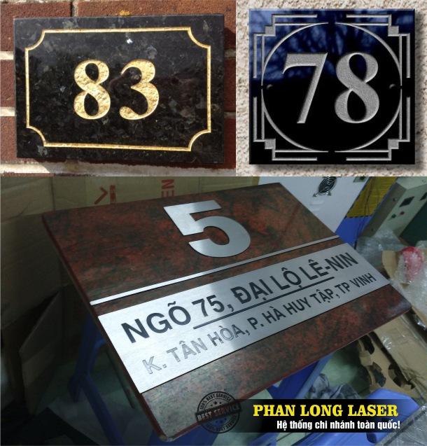 Làm biển bảng số nhà bằng Đá Granite giá rẻ tại Tphcm Sài Gòn, Hà Nội, Đà Nẵng và Cần Thơ