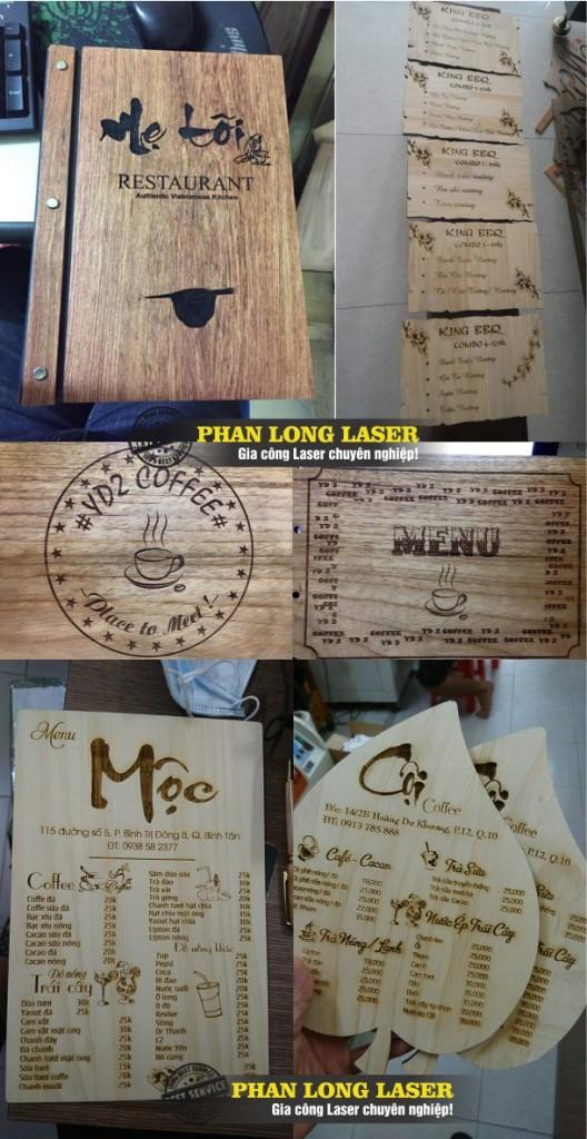 Công ty nhận làm menu gỗ theo yêu cầu giá rẻ