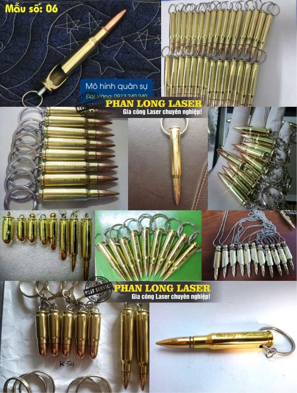 Sản xuất làm móc khóa vỏ đạn khắc laser theo yêu cầu