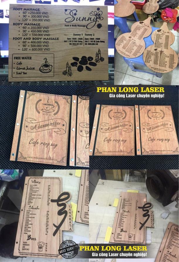 Sản xuất làm menu bằng gỗ theo yêu cầu giá rẻ