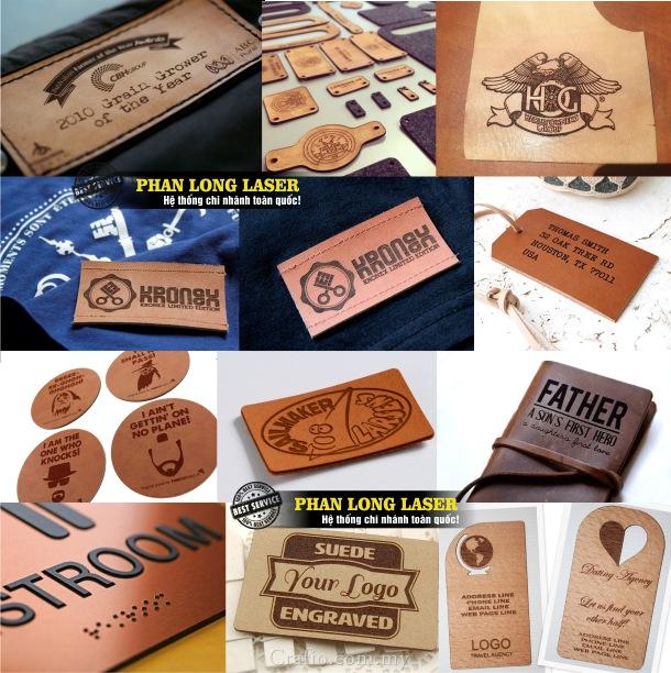 Sản xuất làm tem nhãn mác bằng da theo yêu cầu lấy ngay, lấy liền giá rẻ
