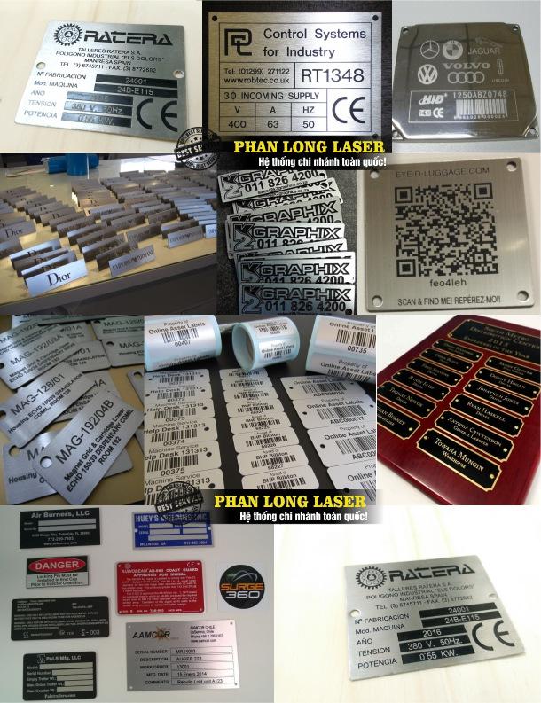 Sản xuất làm tem nhãn mác bằng kim loại Inox đồng nhôm theo yêu cầu giá rẻ
