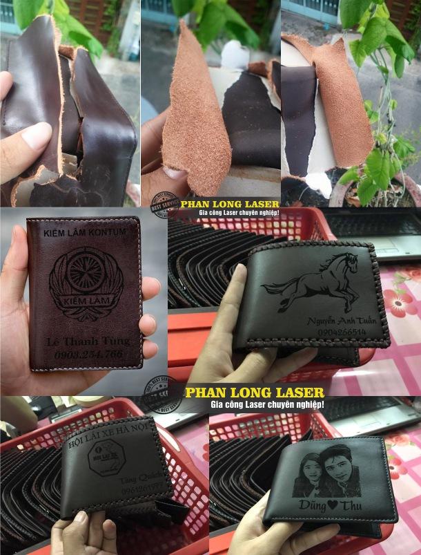 Ví da khắc tên, khắc hình ảnh chân dung bằng máy laser tại Tp Hồ Chí Minh, Hà Nội, Đà Nẵng và Cần Thơ