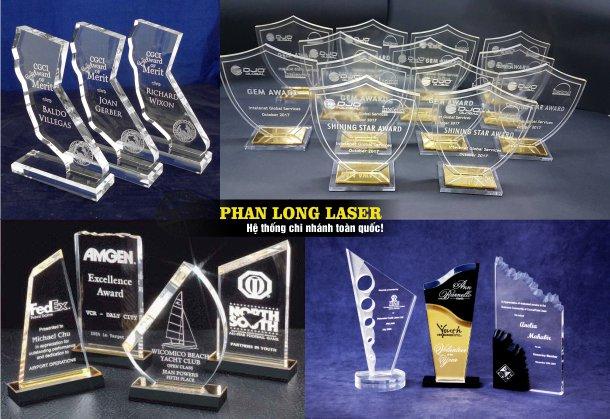 Cơ sở nhận thiết kế làm kỷ niệm chương, cúp, bảng vinh danh, biểu trưng bằng Mica tại Cần Thơ, Đà Nẵng, Hà Nội và Tp Hồ Chí Minh